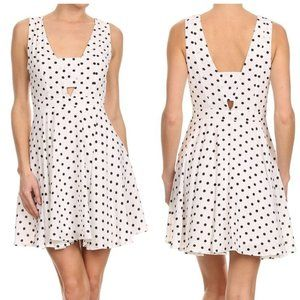 Polka dot flare dress